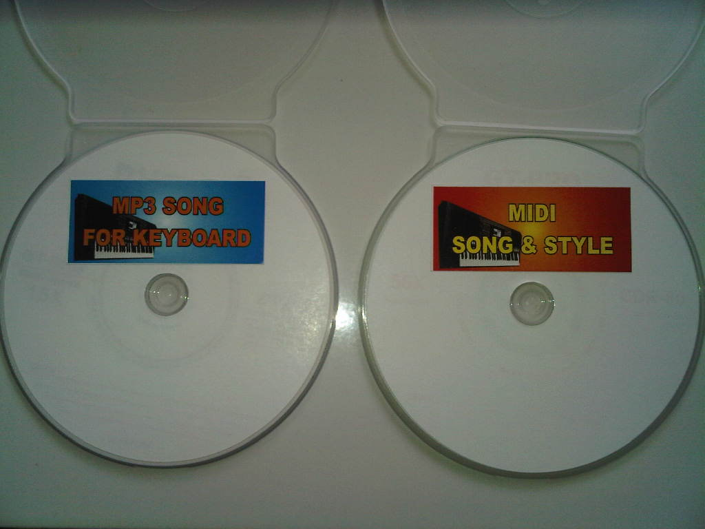 CD Midi Song/Style dan CD song MP3 tanpa vokal u/ keyboard